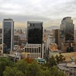 Panorama Cerro Santa Lucía in Santiago de Chile