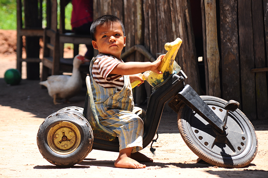 Young biker in Bolivia