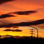 Sunset in Rio Gallegos, Patagonia