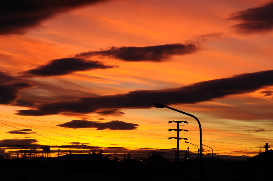 Sunset in Rio Gallegos, Patagonia