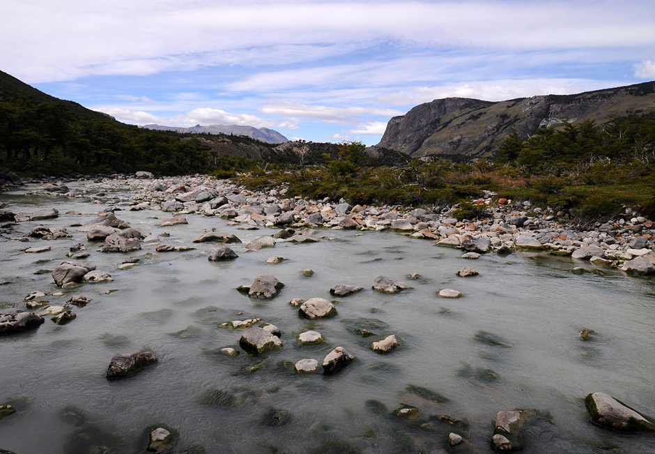 River in El Chalten national park