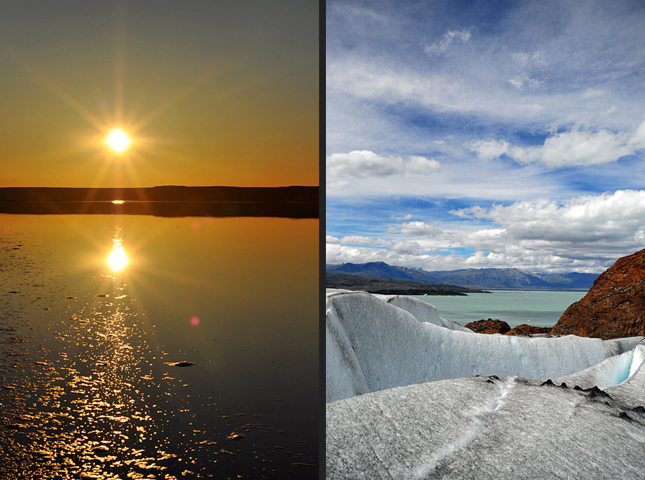 Sunset in Patagonia | on the Viedma glacier in Patagonia