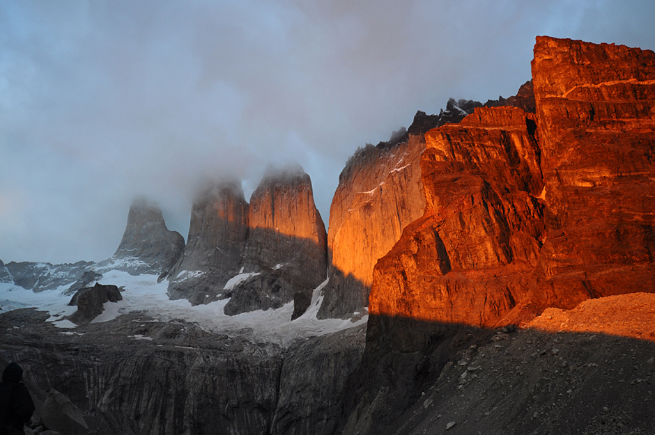 The Torres at sunrise - Torres del Paine NP, Chile